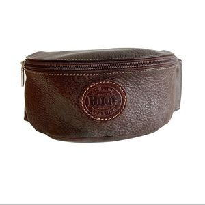 ROOTS Genuine Leather Canada Hip Bag Fanny Pack